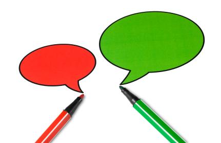 Blank talking speech balloon